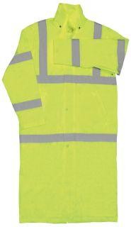 62028 S163 Class 3 Long Rain Coat Hi Viz Lime Medium-