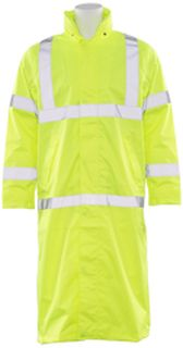 62029 S163 Class 3 Long Rain Coat Hi Viz Lime Large-