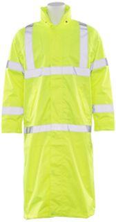 62034 S163 Class 3 Long Rain Coat Hi Viz Lime 5X-