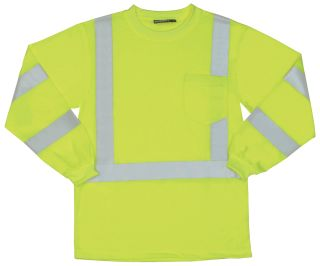 62122 9802S Class 3 Long Sleeve Hi Viz Lime MD-