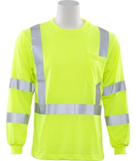 62123 9802S Class 3 Long Sleeve Hi Viz Lime LG-