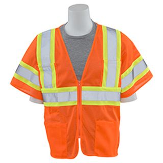 62144 S683P Mesh Contrasting Trim Hi Viz Orange LG-