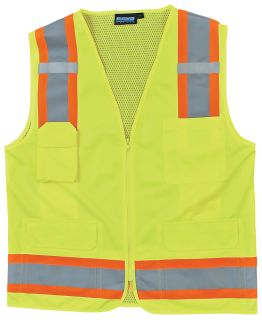 62151 S380 ANSI Class 2 Surveyor Vest Hi Viz Lime MD-