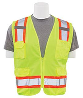 62156 S380 ANSI Class 2 Surveyor Vest Hi Viz Lime 4X-