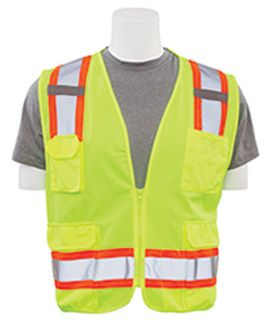 62157 S380 ANSI Class 2 Surveyor Vest Hi Viz Lime 5X-