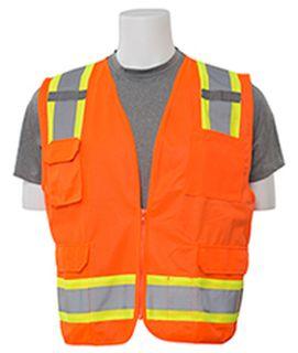 62159 S380 ANSI Class 2 Surveyor Vest Hi Viz Orange LG-ERB Safety