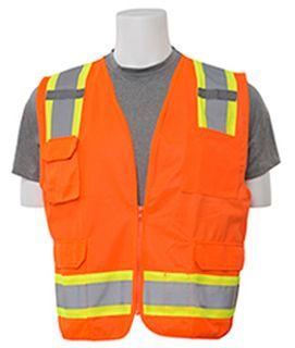 62162 S380 ANSI Class 2 Surveyor Vest Hi Viz Orange 3X-