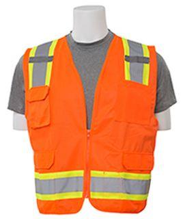 62164 S380 ANSI Class 2 Surveyor Vest Hi Viz Orange 5X-