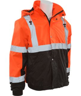 62175 W106T Tall Class 3 Bomber Jacket Hi Viz Orange and Black XL-