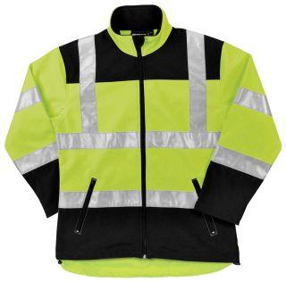 62197 W651 Class 2 Soft Shell Jacket Women's Hi Viz Lime MD-