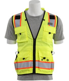 62389 S252C Class 2 mesh/solid Surveyor Hi Viz Lime 3X-