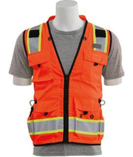 62392 S252C Class 2 mesh/solid Surveyor Hi Viz Orange SM-