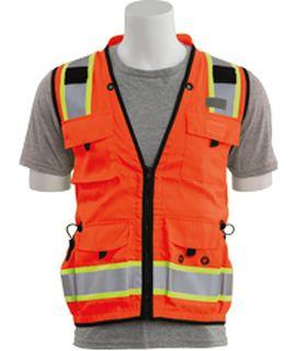 62394 S252C Class 2 mesh/solid Surveyor Hi Viz Orange LG-