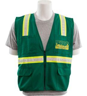 62472 S813 Non ANSI Surveyor CERT Logo Vest LG-