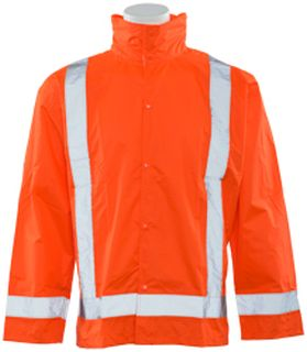 63013 S373D Class 3 Lightweight Oversized Raincoat Hi Viz Orange 3X 4X-