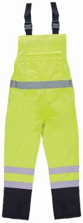 63142 S860BIB Class E Bib Rain Pant Lime 5X-