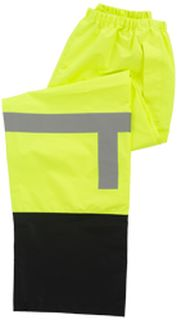 63519 S373PTB Class E Rain Pant Hi Viz Lime Black Bottom 4X-