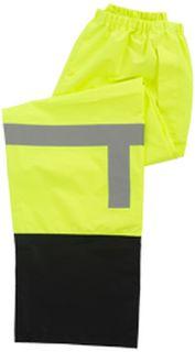 63520 S373PTB Class E Rain Pant Hi Viz Lime Black Bottom 5X-