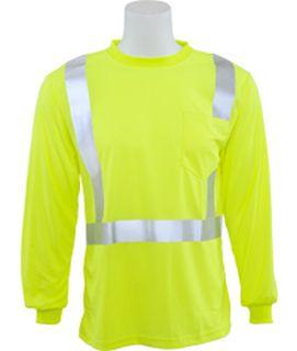 64005 9007S Class 2 Birdseye Mesh T shirt Hi Viz Lime 3X-ERB Safety
