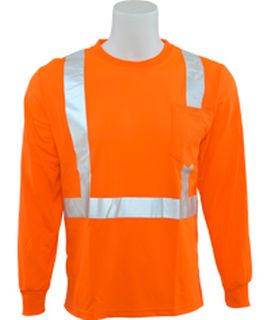 64009 9007S Class 2 Birdseye Mesh T shirt Hi Viz Orange MD-
