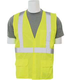 65016 S190 Class 2 Fame Retardant Treated Vest Hi Viz Lime 5X-