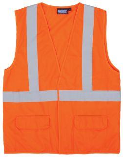 65017 S190 Class 2 Fame Retardant Treated Vest Hi Viz Orange MD-