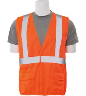 65018 S190 Class 2 Fame Retardant Treated Vest Hi Viz Orange LG-