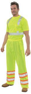 65024 S210 Class E Pants Hi Viz Lime MD-
