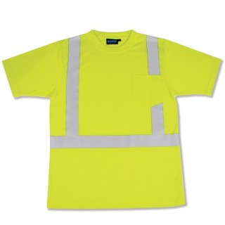 9601S ANSI Class 2 T-Shirt Short Sleeve W/Reflective Tape