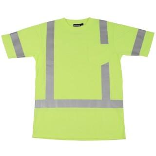 ANSI Class 3 Short Sleeve T-Shirt w/Reflective Tape Jersey Knit
