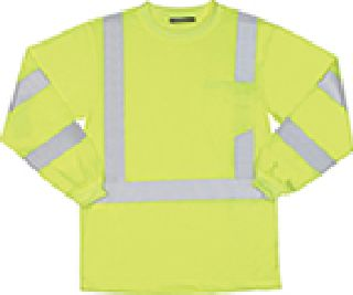 ANSI Class 3 T-Shirt Long Sleeve W/Reflective Tape