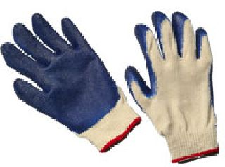 PVC Latex Coated String- Natural- Cotton/Poly Blend Gloves