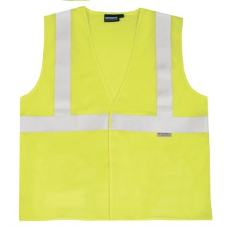 ANSI Class 2 Vest Flame Resistant Modacrylic Hi-Viz Lime - Hook & Loop