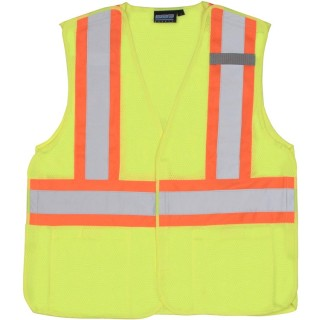 ANSI Class 2 Vest Mesh Breakaway orange trim - Hook & Loop