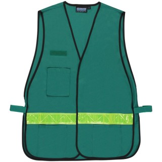 Cert Green NON-ANSI Vest Tricot - Hook & Loop