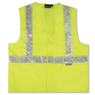 ANSI Class 2 Safety Vest Woven Oxford - Hook & Loop