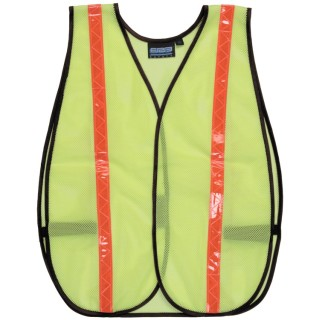 S18R NON-ANSI Vest W/Stripe - Hook & Loop - One Size Fits Most