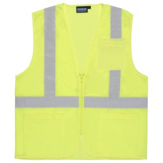 ANSI Class 2 Vest Mesh Economy W/Pockets - Zipper