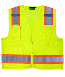 ANSI Class 2 Surveyor's Vest Oxford & Mesh - Zipper