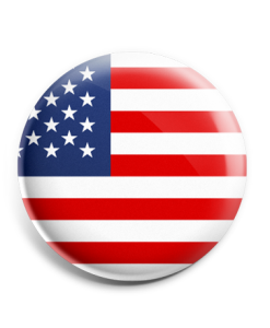 Velcro Button - American Flag