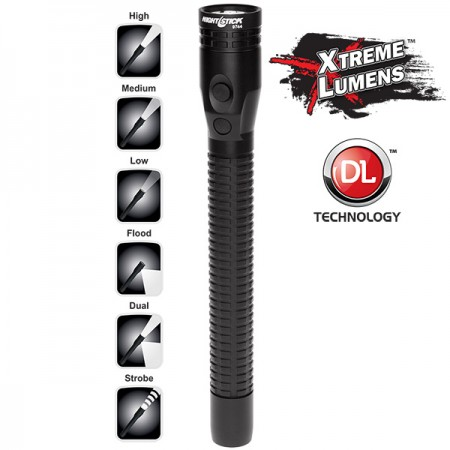 Xtreme Lumens™ Metal Multi-Function Full-Size Dual-Light™ Flashlight - Rechargeable