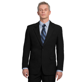 Mens Ecotex™ Recycled Polyester, 2-Button Blazer-EcoTex Recycled Polyester