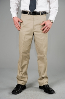 Poly Cotton Casual Pants-Classic Khakis