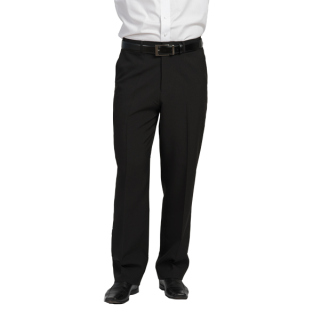 Mens Ecotex Recycled Polyester Tailored Front Pant-EcoTex Recycled Polyester