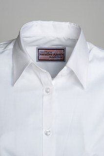 Mens Tailored Plain Collar Oxford Shirt-Executive Essentials