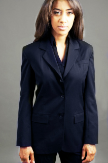 Ladies 3-Button Easywear Blazer-Easywear Polywool