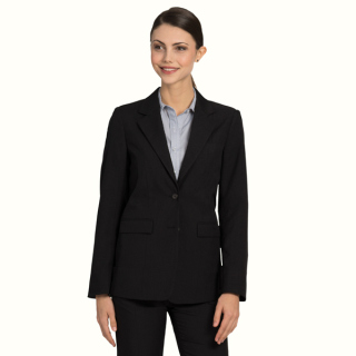 Womens Ecotex™ Recycled Polyester, 2-Button Blazer-EcoTex Recycled Polyester