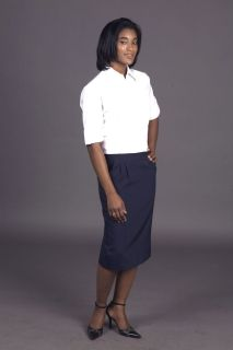 Ladies Long Lined Easywear Skirt-Easywear Polywool