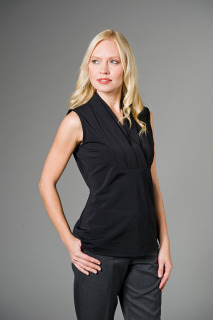 """Antoinette"" Sleeveless Blouse-The Better Blouses Collection"