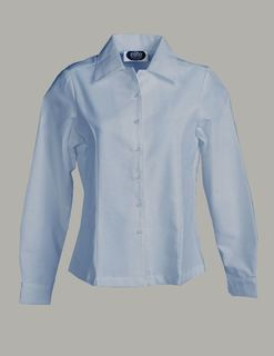 Ladies Oxford Overblouse, Long Sleeve